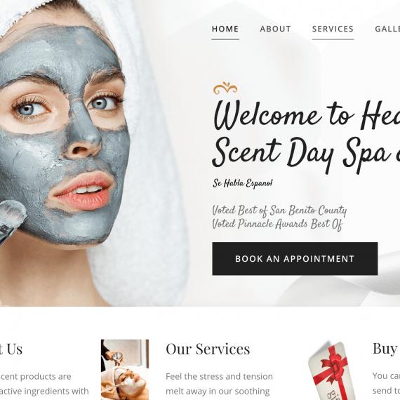 Heaven Scent Day Spa and Salon Website Design