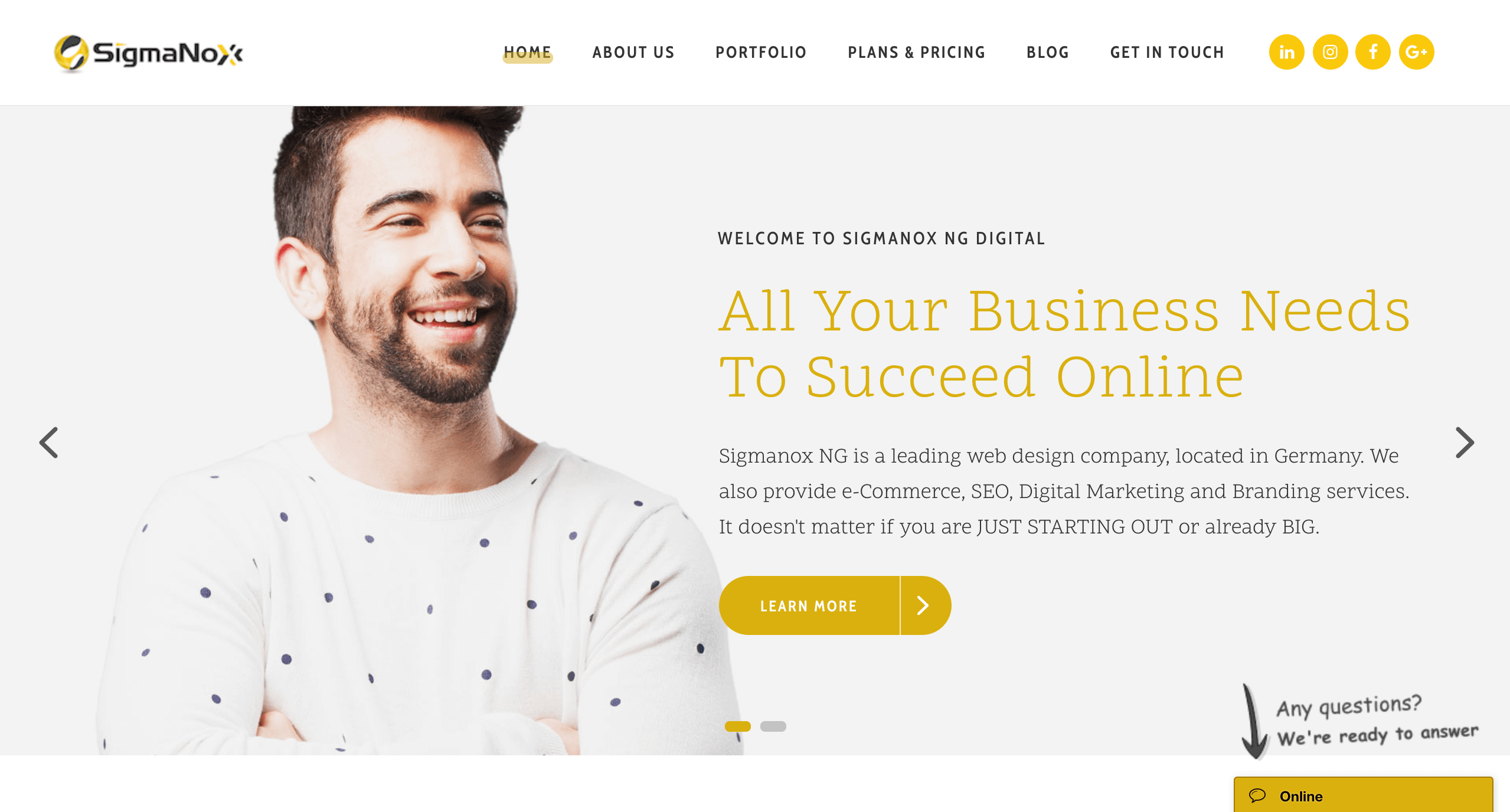 Sigmanox Homepage