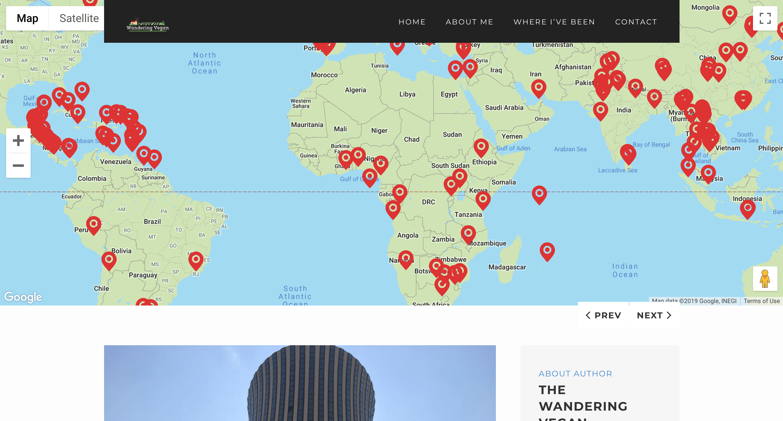 Wandering Vegan Website