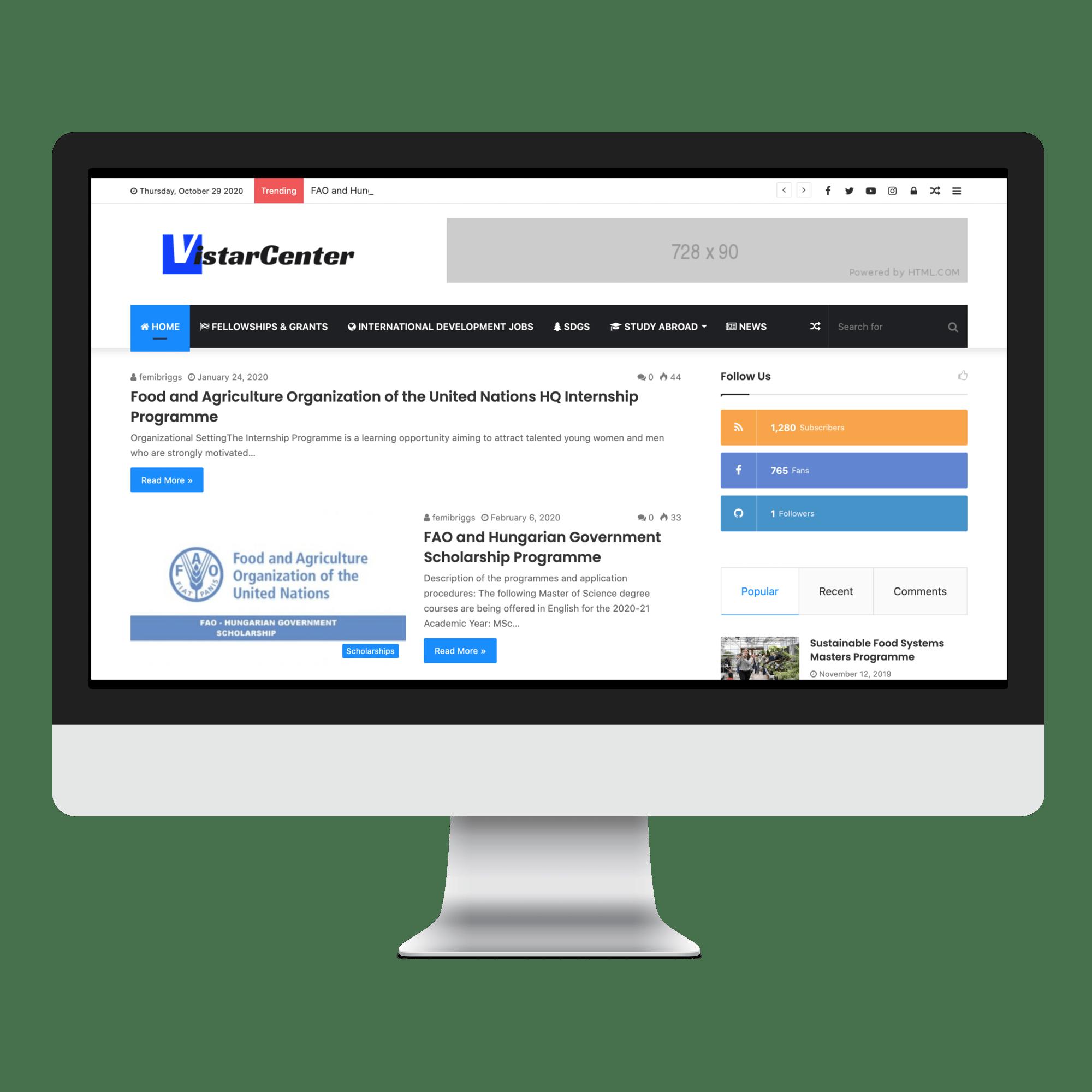 VistarCenter Website Designed by Sigmanox NG