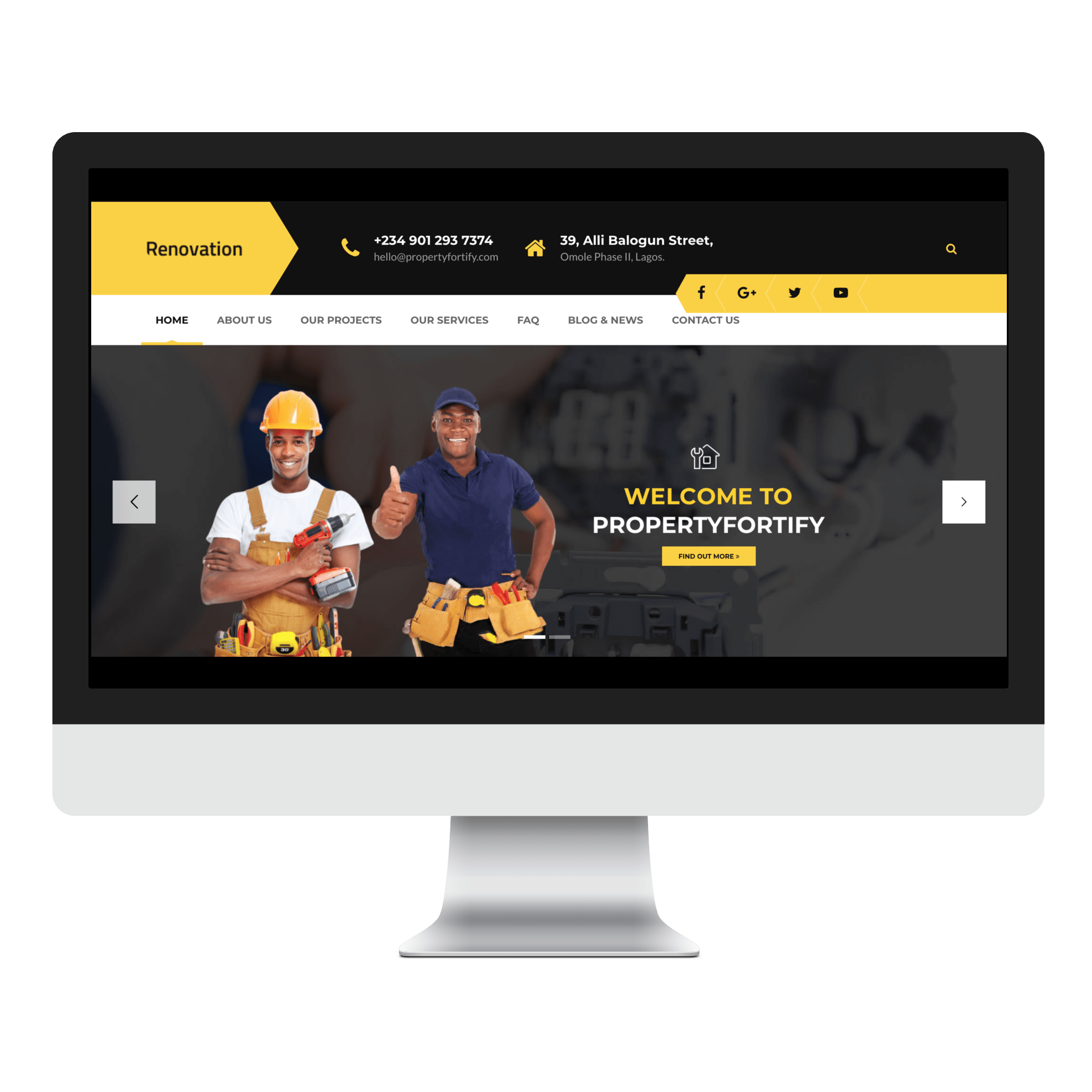 Property Fortify Website Designed by Sigmanox NG